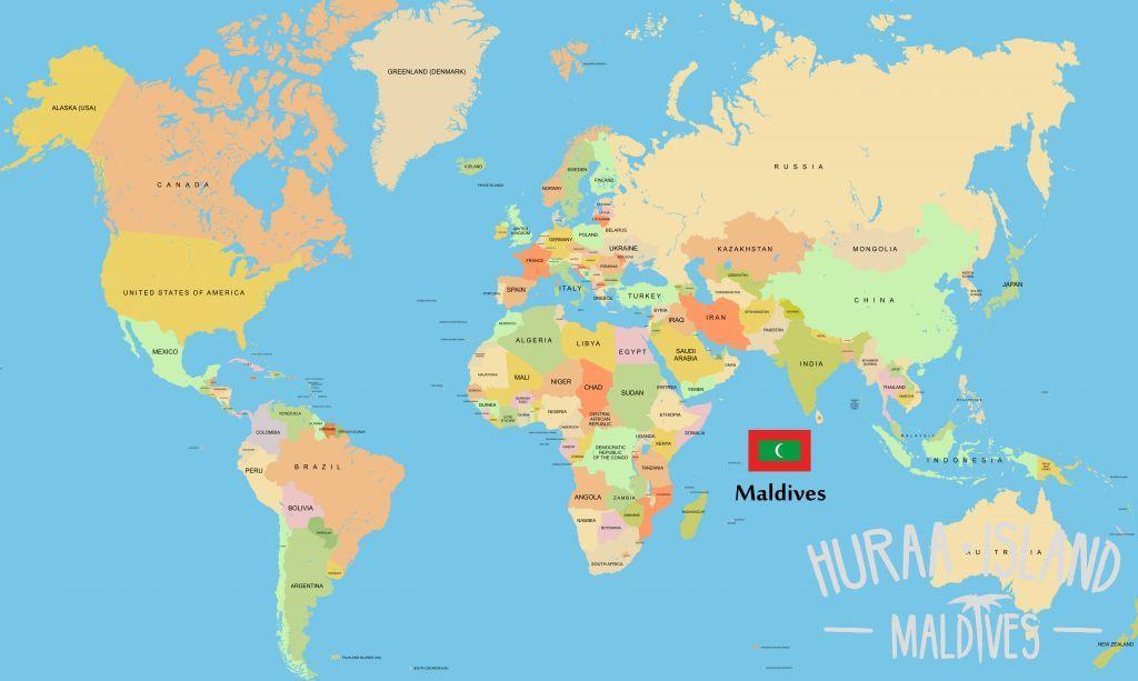 Maldivi Lokacije Na Zemljevidu Sveta Zemljevid Maldivi V