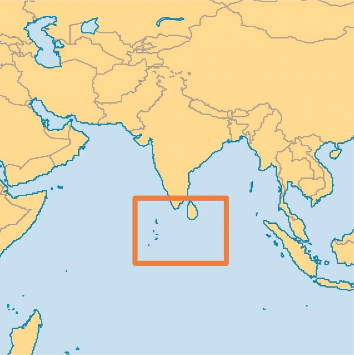 Svetovni Zemljevid Maldivi Otokov Otoku Maldivi Lokacijo Na